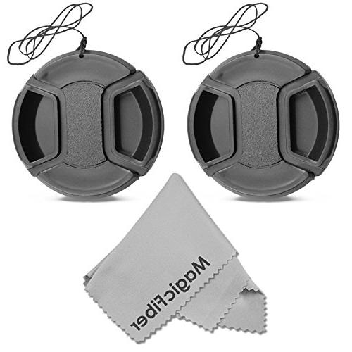 58mm Snap-On Center Pinch Lens Cap with Holder Leash, Camer