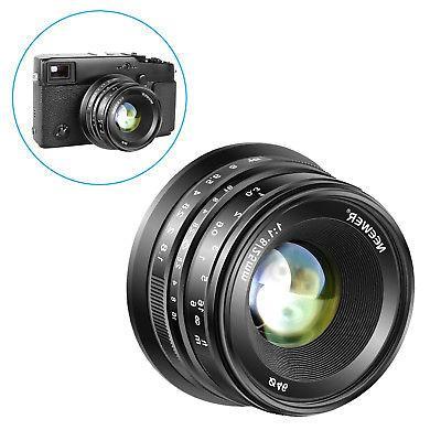 Neewer 25mm Manual Focus Prime Fixed Lens for Fuji XPro2 XE3