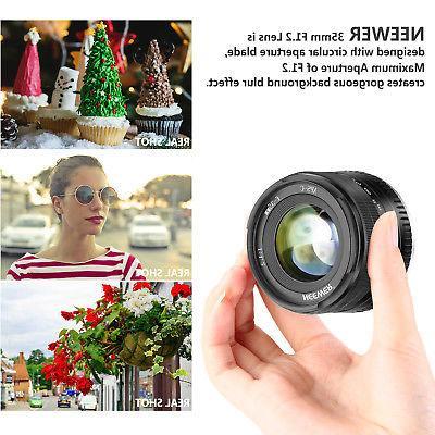 Neewer 35mm F1.2 Focus Prime APS-C Lens Compatible Fuji