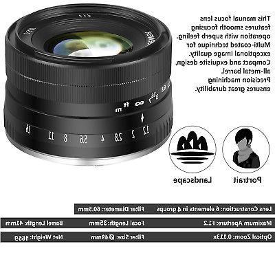 Neewer 35mm Manual Focus Prime Lens Compatible