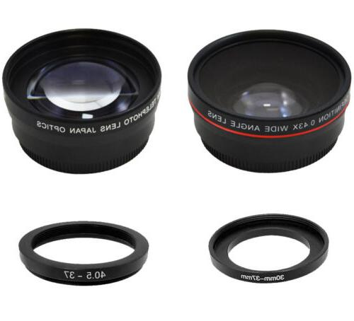 37mm 0.43X Wide Angle & 2.2X Telephoto Lens Kit  for DSLR Ca