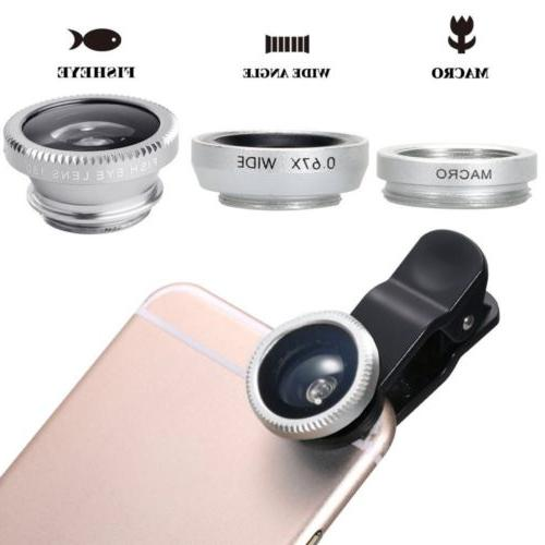 3in1 Eye+Macro+Wide Angle kit for iPhone/Samsung Cellphone