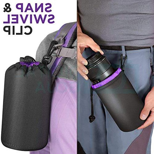 Photo Protective Neoprene for DSLR - Includes: Small, Medium, Large Pouches