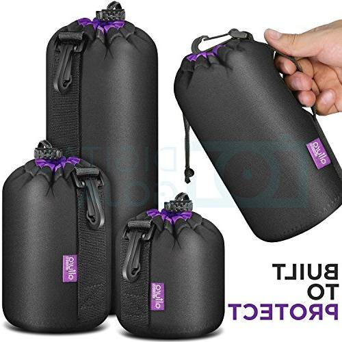 Altura Photo Thick Protective Neoprene for Camera Lens - Large and Extra Large Pouches