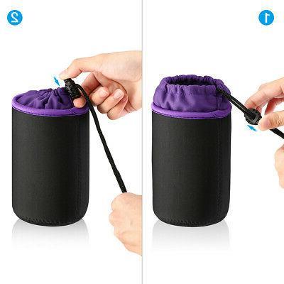 4 Camera Lens Protector Bag Case Set 4-Size Waterproof