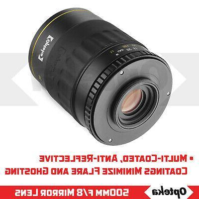 Opteka 500 f/8.0 Telephoto Wildlife Lens DSLR Cameras