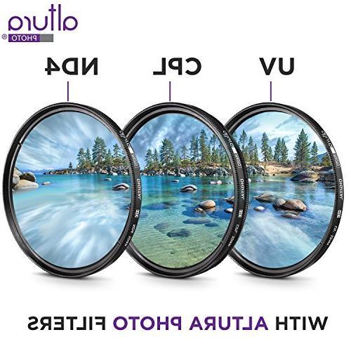 52MM Kit for Nikon DSLR with Altura Photo Fisheye and Angle