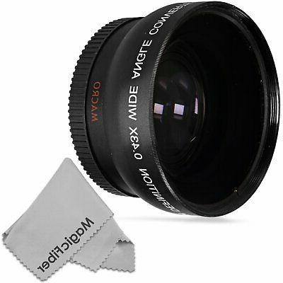 52mm 0 43x wide angle lens compatible