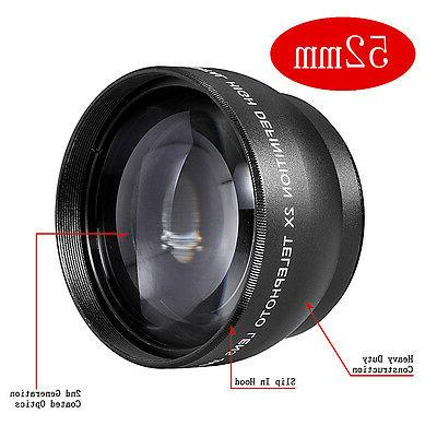 Neewer 52mm 2x Magnification TELEPHOTO Lens FOR Canon Camera