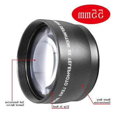 Neewer 55mm 2x Magnification Telephoto Lens Professional HD