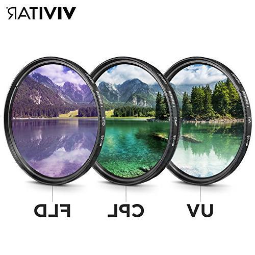 58MM Filter Accessory Kit for EOS Rebel T7i T5 T3i 70D 60D Cameras