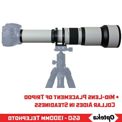 Opteka Super Zoom Lens for Samsung NX1 NX3000 NX2000 NX300