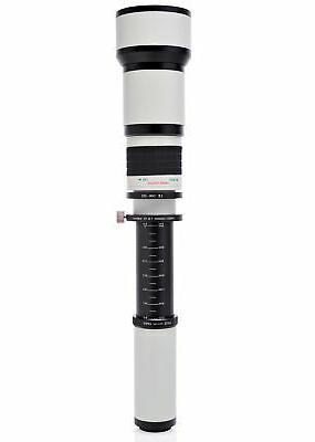 Opteka 650-2600mm Telephoto Lens for Nikon D3500 D3400 D3300