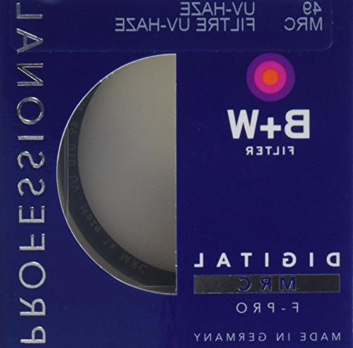 B+W 49mm Clear UV Haze with Multi-Resistant Coating