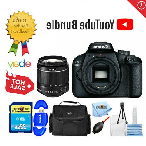 Canon EOS 4000D / Rebel T100 with EF-S 18-55 mm f/3.5-5.6 II