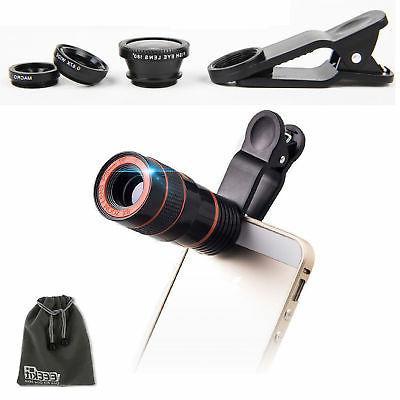 EEEKit 8X Zoom Telephoto Lens+Wide Angle Lens+FishEye