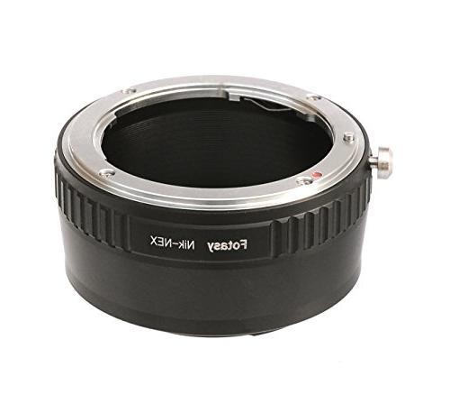 Fotasy Nikon Lens to Sony E-Mount NEX Camera NEX-5R NEX-5T N