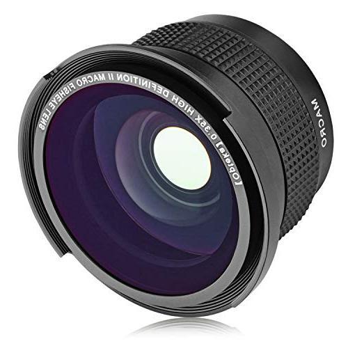 Opteka .35x HD Super Wide Angle Panoramic Macro Fisheye Lens