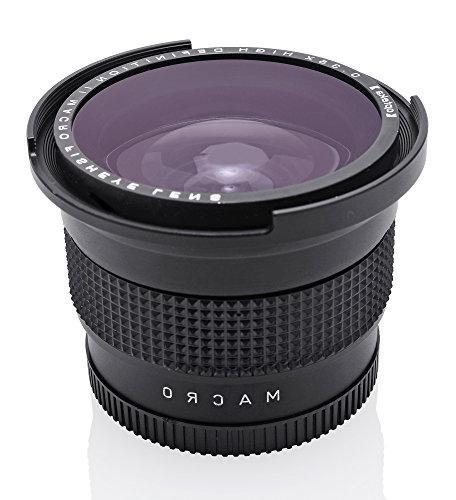 Opteka Super Wide Angle Fisheye Lens for D810, D800, D610, D600, D300, D7100, D5500, D3300, D3200 Digital SLR Cameras