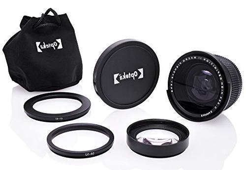 Opteka .35x Super Wide Panoramic Fisheye Lens D5, D4, D3X, D810, D800, D500, D610, D600, D7100, D5500, D3300, D3200 Digital Cameras