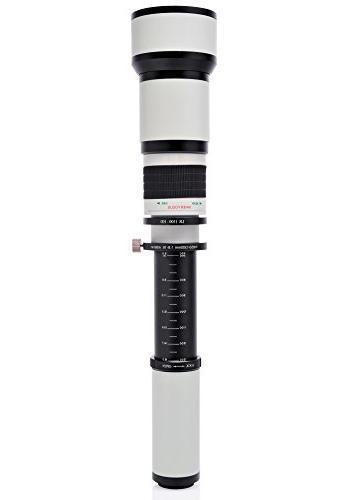 Opteka 650-1300mm Lens Sony a7R, a7S, NEX-5N, 3N other