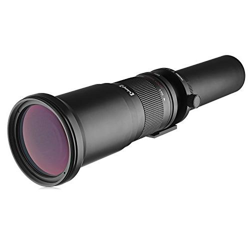 Opteka 650-2600mm High Definition Telephoto Zoom Lens for Ca
