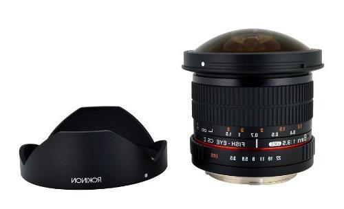 Rokinon 8mm f3.5 AS IF MC CSII DH Fisheye Lens with Removabl