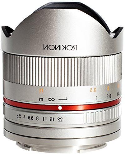 Rokinon RK8MS-E 8mm F2.8 Series 2 Fisheye Lens for Sony E Ca