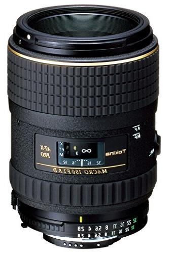 Tokina AT-X 100mm f/2.8 PRO D Macro Lens for Nikon Auto Focu