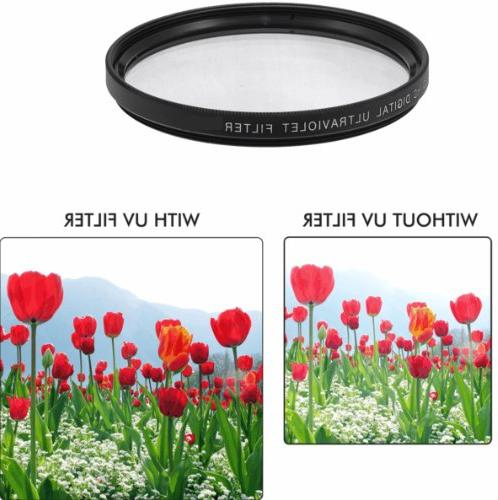 58MM - Includes: 0.35x Super Wide 0.43x Angle & Telephoto Lenses Control + Vivitar + Vivitar Macro Set + Hood + Lens Hood Lens Cap + + Flash + Cleaning