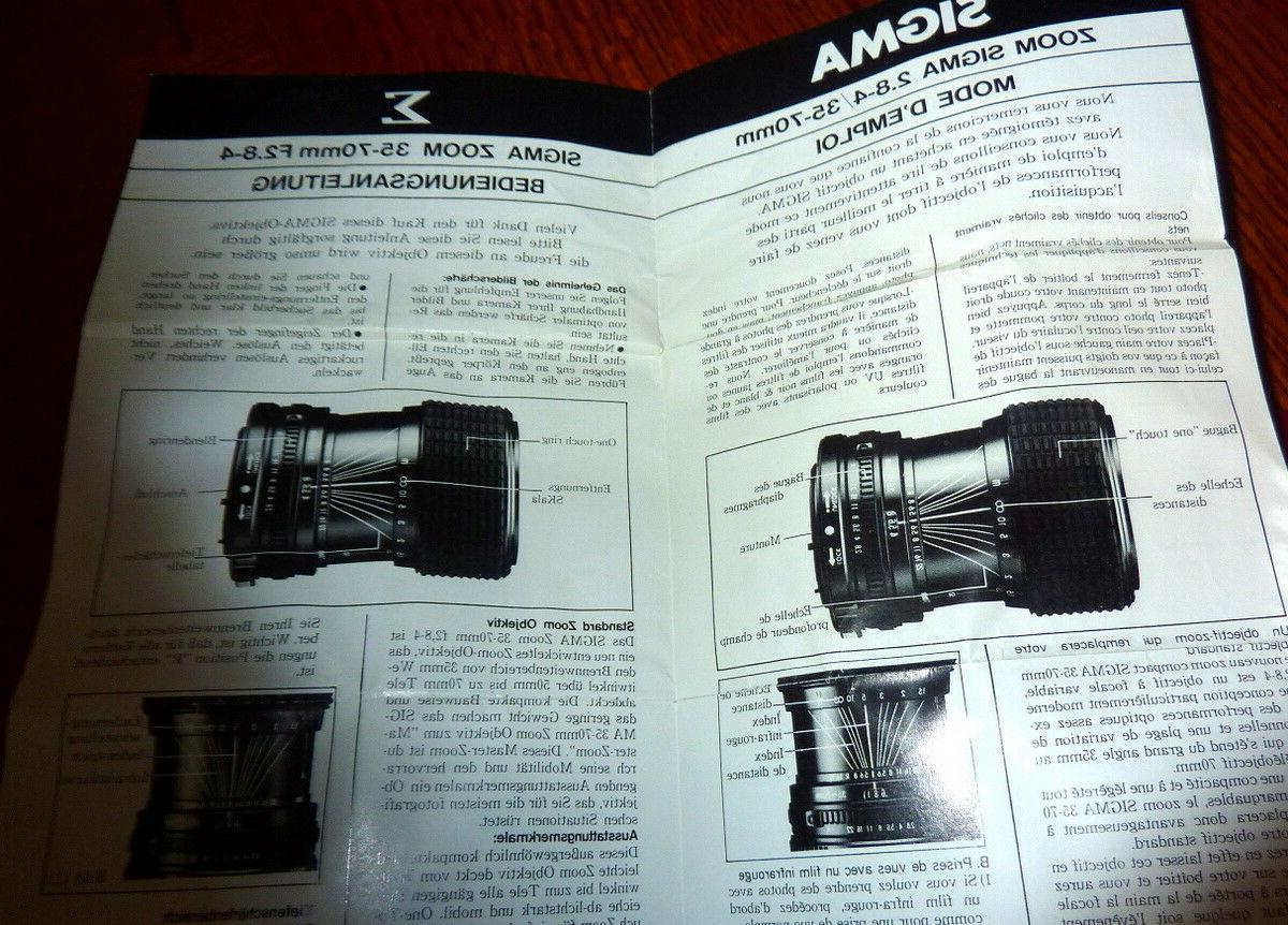 Camera Lens New Fujica Sigma F/2.8-4 Macro