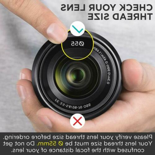 Camera Photo Pro Angle Lens for and Sony Camera Lenses 55MM