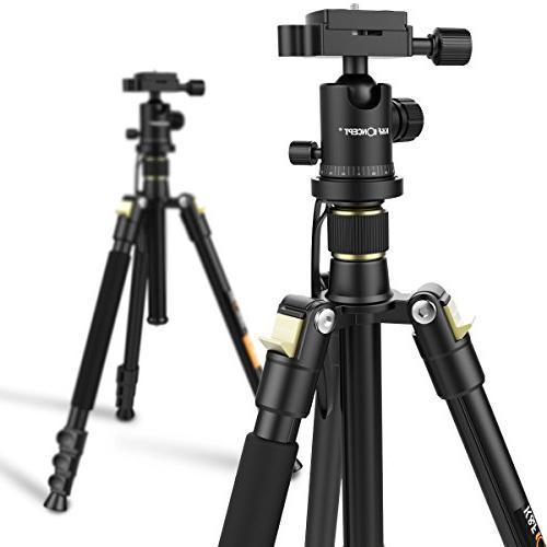 Camera Aluminum Tripod Inch Quick Release Plate Tripod for Canon Nikon Sony DSLR Black Tripod