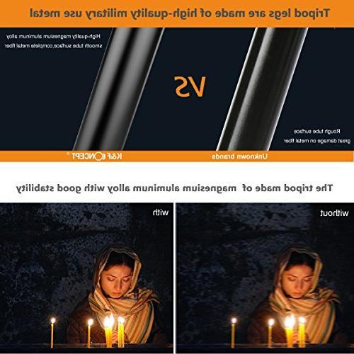 Camera K&F Aluminum TM2324 Inch Quick Plate DSLR Tripod Camera Canon Nikon Sony Black Compact