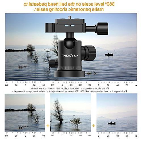 Camera Tripod, Aluminum TM2324 Inch with Ball Quick Tripod Nikon Black