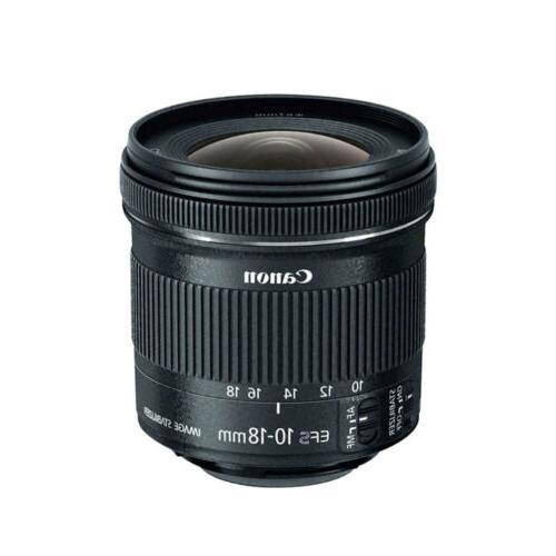 Canon EF-S 10-18mm f/4.5-5.6 IS STM Lens Bundle for Digital