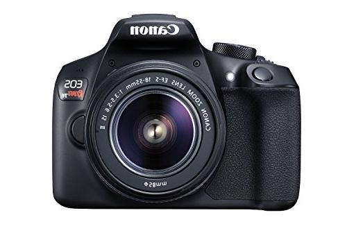 Digital Kit with EF-S 18-55mm IS II Lens, WiFi NFC Black