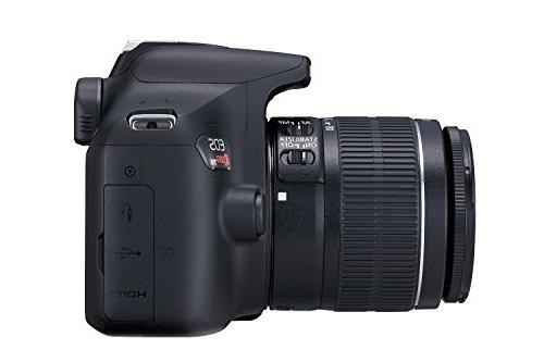 Canon EOS Digital SLR Camera Kit with EF-S IS II WiFi and Black