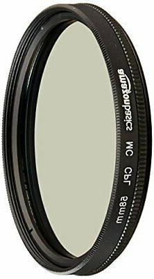 AmazonBasics Circular Polarizer Camera Photography Lens - 58
