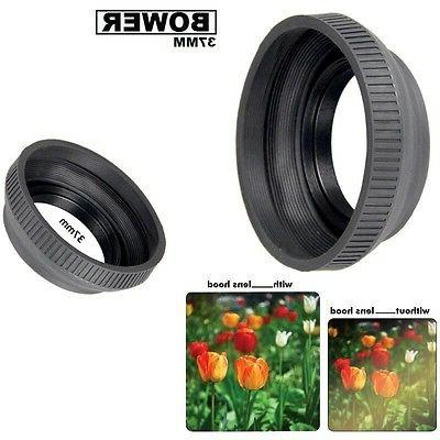 Bower 37mm  Collapsible Rubber Lens Hood For Photo and Video