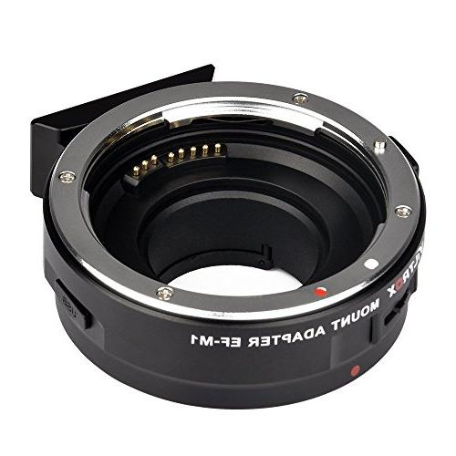Viltrox EF-M1 Auto Focus Lens Mount Adapter Ring AF,EXIF Adapter Compatible for Canon EF//EF-S Lens to M4//3 Olympus//Panasonic Cameras,with USB Interface