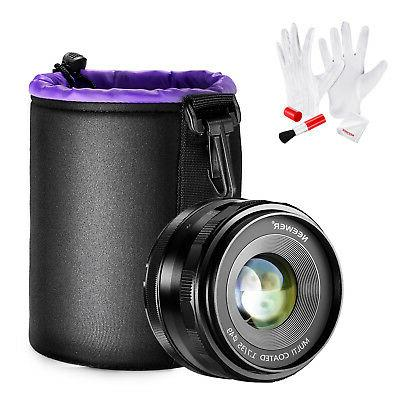 Neewer 35mm f/1.7 Manual Focus Prime Fixed Lens Kit for SONY