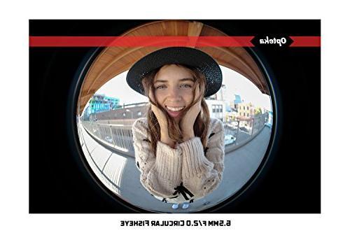 Opteka 6.5mm f/2 MC Manual Focus Lens for Mount APS-C Digital Cameras