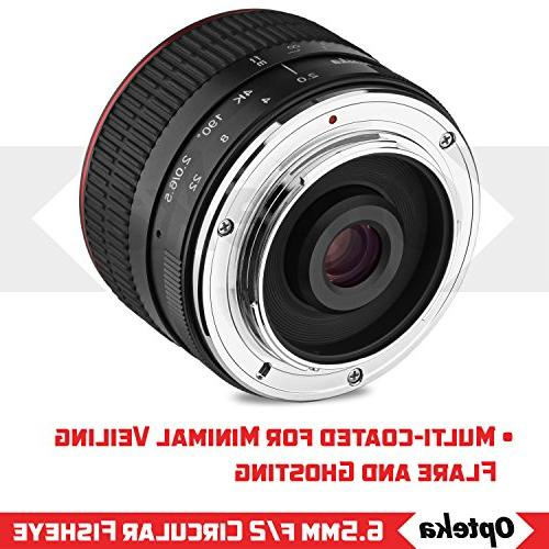 Opteka 6.5mm f/2 HD MC Fisheye Lens X Mount APS-C