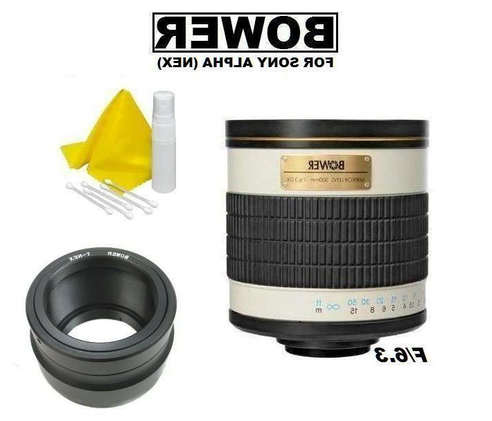 Bower 500mm f/6.3  Telephoto Mirror Lens for Sony E Mount DS
