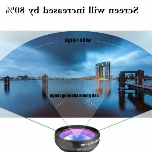 Fish Angle Lens Clip Cell iPhone Samsung