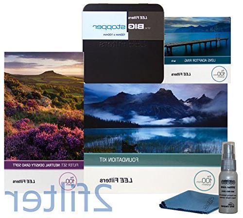 Lee Filters 77mm Landscape Starter Kit 1 - Lee Foundation Kit, 77mm Wide  Angle Ring, Lee 4x6 Grad ND Soft Edge Set and 4x4 Big Stopper with 2filter