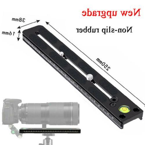 long focus quick release plate tripod rail