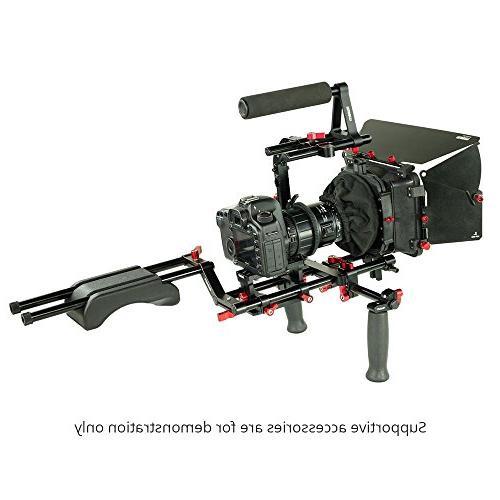 FILMCITY Power Matte Box Rod for DSLR Movie Video Lenses