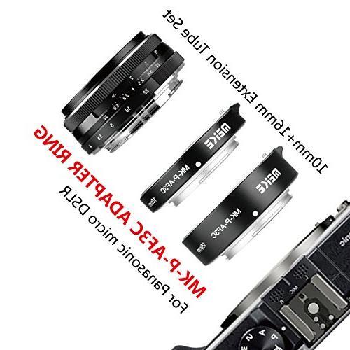 MEIKE MK-P-AF3C Black All Metal Auto Extension 10MM For Olympus Panasonic Micro Four Thirds M4/3 Camera Lenses